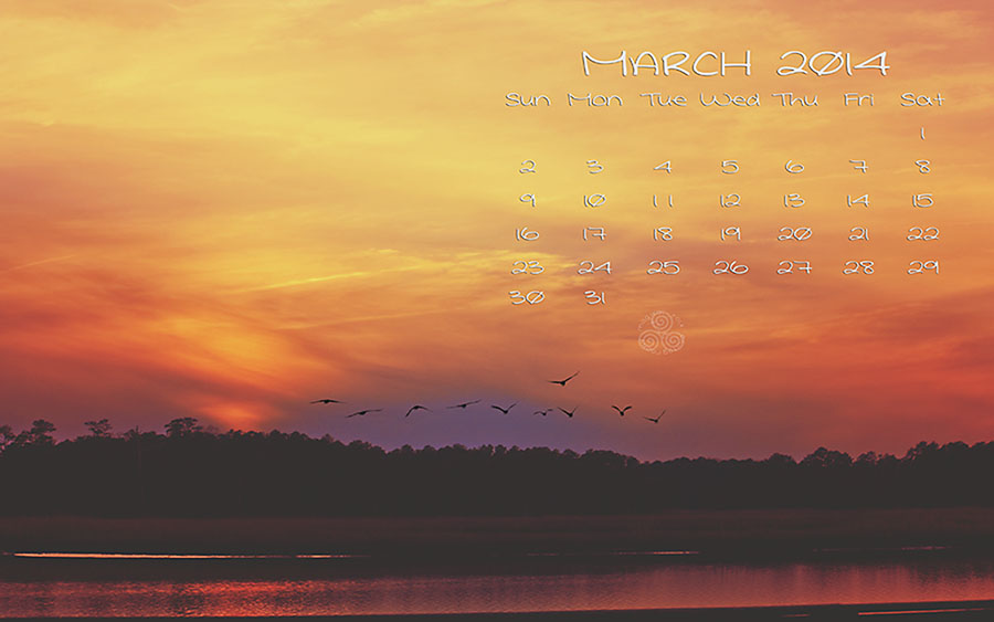 march sunset calendar blog